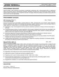 Procurement Analyst Re Ideal Procurement Specialist Resume Samples