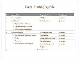 Microsoft Agenda Template Magnificent Business Meeting Agenda Template Word Board Report Co Change