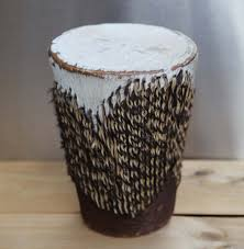 African Drum Coffee Table Drum Skin Etsy