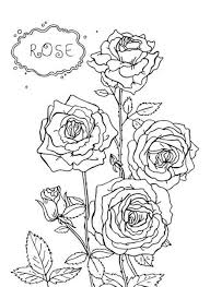 Coloring Pages Of Rose Flowers Flower Coloring Pages Of