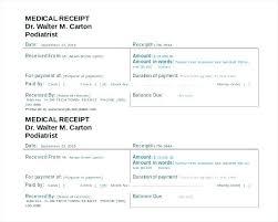 Doctor Receipt Template Doctors Receipt Templates Sample Itemized Doctor Bill