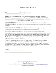30 day notice to landlord letter template