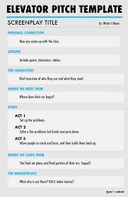 Elavator Speech How To Write An Elevator Pitch Free Elevator Pitch Template