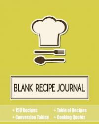 Recipe Journal Template Blank Recipe Journal Journal Jungle Publishing 9781987869941