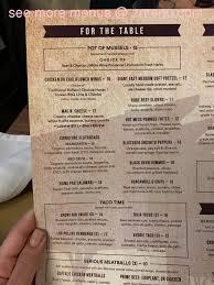 menu of garden social beer
