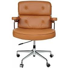 eames office chair replica. Eames ES104 Executive Office Chair - Tan Brown Leather Replica