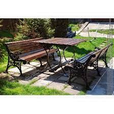 garden dining table and bench set praga