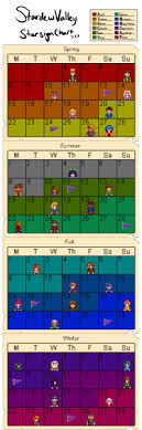 Stardew Valley Chart The Man From The Valley Tumblr