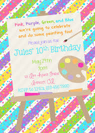 printable painting party invitation by partypoppapers on 13 00