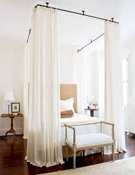 Image result for curtain around studio bed