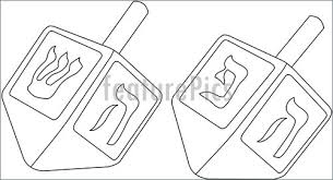 Small Picture Illustration Of Hanukkah Dreidel Coloring Page