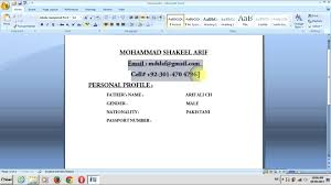 How To Create Resume Using Word Make On Microsoft Office In Build
