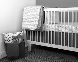 image of modern crib bedding set