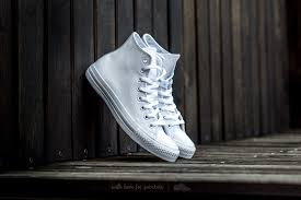 converse chuck taylor a s leather hi white monochrome