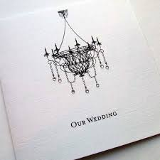 chandelier crystals wedding invitation