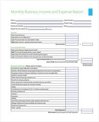 Monthly Business Expenses 10 Monthly Expense Form Sample Free Sample Example Format Download