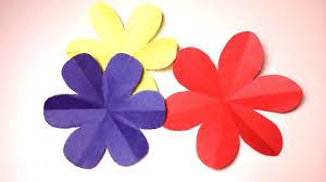 Paper Flower Cutter How To Cut A Perfect 6 Petal Flower Diy Paper Craft