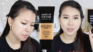 new make up for ever matte velvet skin full coverage foundation review oily skin alisonha