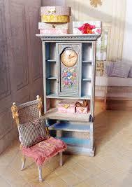 miniature doll furniture. blue clock ladys desk u0026 chair by maritzaminiatures miniature doll furniture e