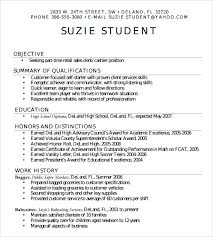 High School Resume Format Adorable Gallery Of Sample High School Resume Template 28 Free Documents In
