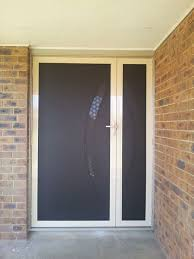 security front doorsPerforated Security Doors  Colors Of Knobsets Include Brass