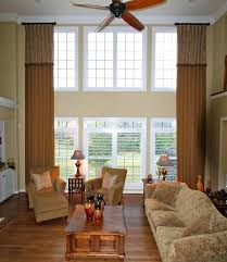ceiling fan for high ceilings. ceiling fan: two story draperies with french flip attached valance high fans fan for ceilings