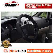 philippines universal steering wheel cover anti slip sandwich sport type 38cm black