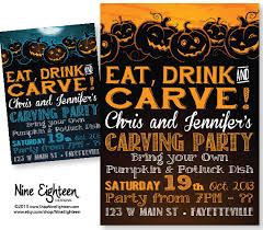 pumpkin carving contest flyer pumpkin carving halloween party invitation eat drink carve custom