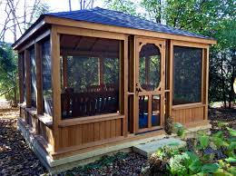 enclosed gazebo kits garden structures pergolas pavilions