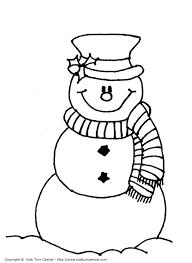 Kleurplaten Sneeuwpop Winter Siluetas De Navidad Moldes Para