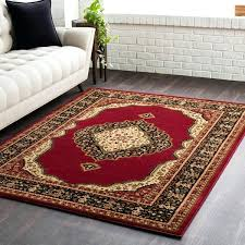 Red Accent Rug Woven Bright Rugs