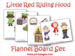 Gingerbread Man Felt Board Story Template Pre K Theme Little Red Riding Hood Pre Kpages Com