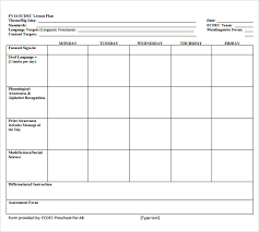 Lesson Plans Blank Template Sample Lesson Plan 6 Documents In Pdf Word