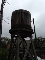 elevated wood water towers
