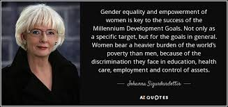 Gender Equality Quotes Extraordinary Johanna Sigurðardottir Quote Gender Equality And Empowerment Of