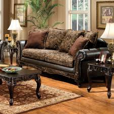 Living Room Furniture Made In The Usa Venetian Worldwide Rotherham Floral Brown Fabric Espresso