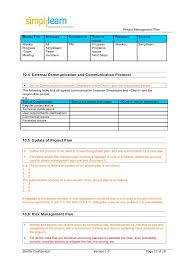 project weekly report format management plan template