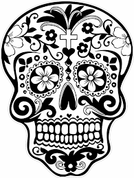 Skull Coloring Pages Day Of The Dead Archives Inside Day Of The ...