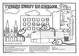 Muizenstad Kleurplaat Studio De Leijer
