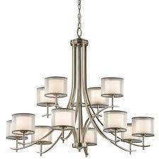 kichler tallie antique pewter 12 light chandelier