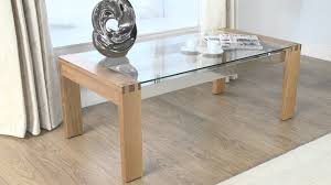 glass and dark wood coffee table lyon oak glass coffee tablethe lyon oak furniture collection from