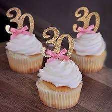 30th Birthday Cupcake Toppers Amazoncom