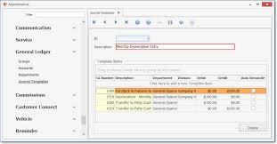 Journal Templates General Ledger System General Ledger Procedures General