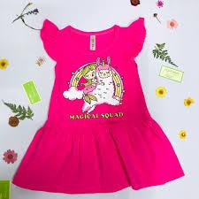 Đầm thun cho bé gái VNXK cao cấp 100% cotton thun 4 chiều (Sz10-23kg) chính  hãng 95,000đ