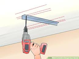 install electric garage door opener how to install a garage door opener with pictures throughout decorations cost to install electric garage door opener