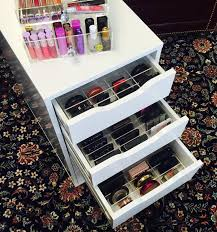 Sonny Cosmetics Ikea alex makeup organization and storage acrylic organizers