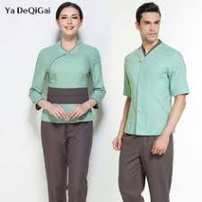 Men SPA <b>Uniform</b> service tops+<b>Pants</b> 2pcs Set Hotel <b>Work Wear</b> ...