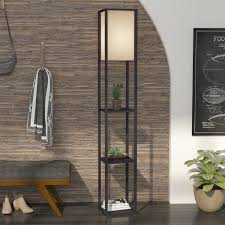 Column Floor Lamp Best Latitude Run Xochitl 32 Column Floor Lamp Reviews Wayfair