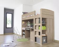 Montana Loft Beds with Desk and Closet Underneath are Gami brand loft beds  in White Ash