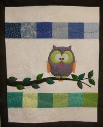Katie's Quilts and Crafts: Halloween and Owl Baby Quilt & I just used scraps of fabric to make up this little quilt. I was going for  a more